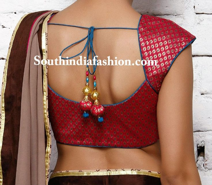 Simple and Stylish Brocade Blouse ~ Celebrity Sarees, Designer Sarees, Bridal Sarees, Latest Blouse Designs 2014