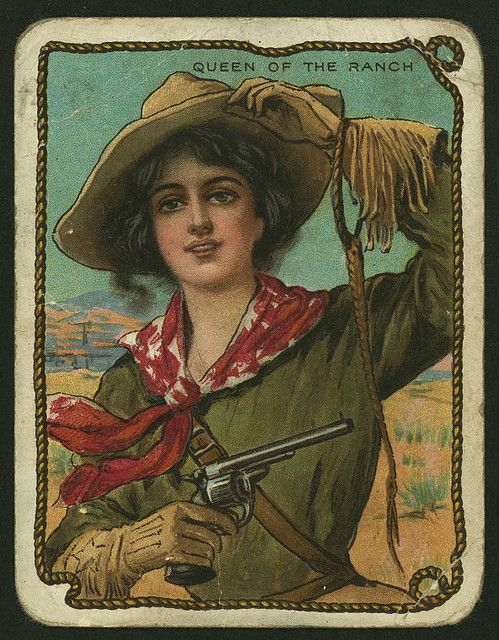 Vintage Cowgirl Picture