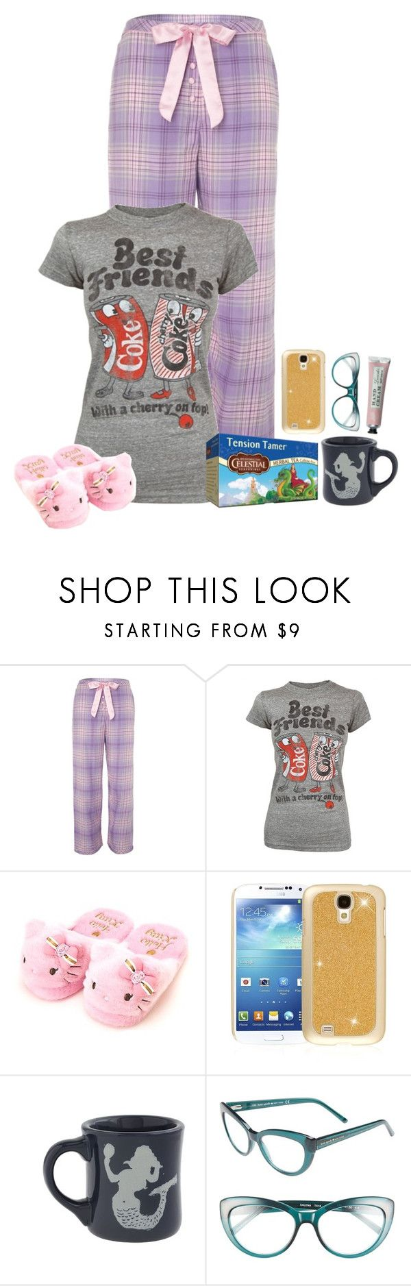 """Untitled #1093"" by emmzizleez888 ❤ liked on Polyvore featuring Cyberjammies, Junk Food Clothing, Celestial Seasonings, Hello Kitty, Samsung, J.Crew, Kate Spade and vintage"