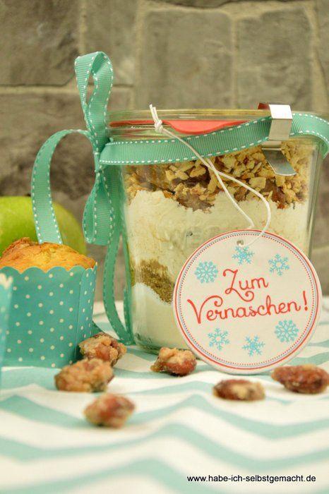 Apfel Muffins mit gebrannten Mandeln - Backmischung - Powered by @ultimaterecipe