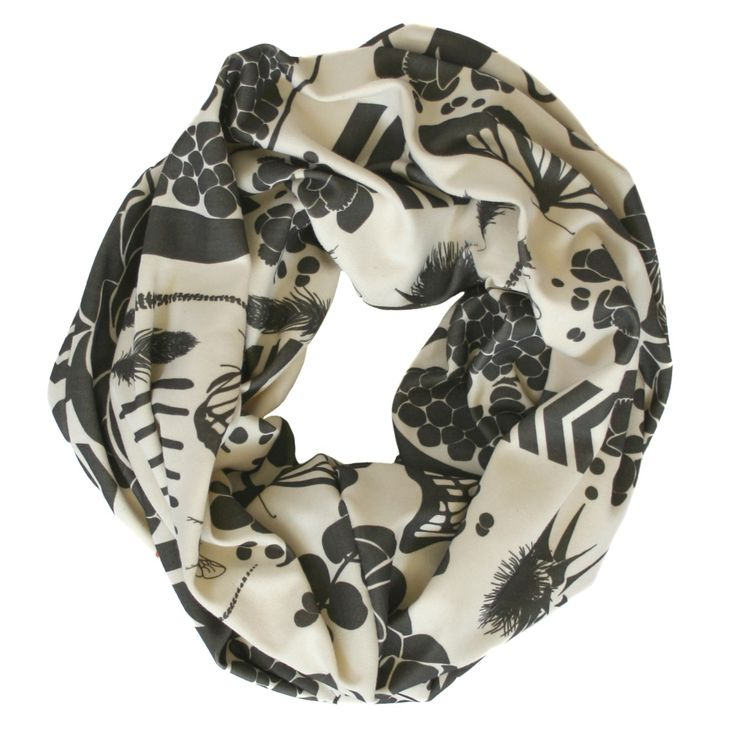 Charcoal Sovay Scarf BY NINA GLASER