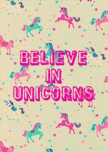 believe in unicorns, wallpaper