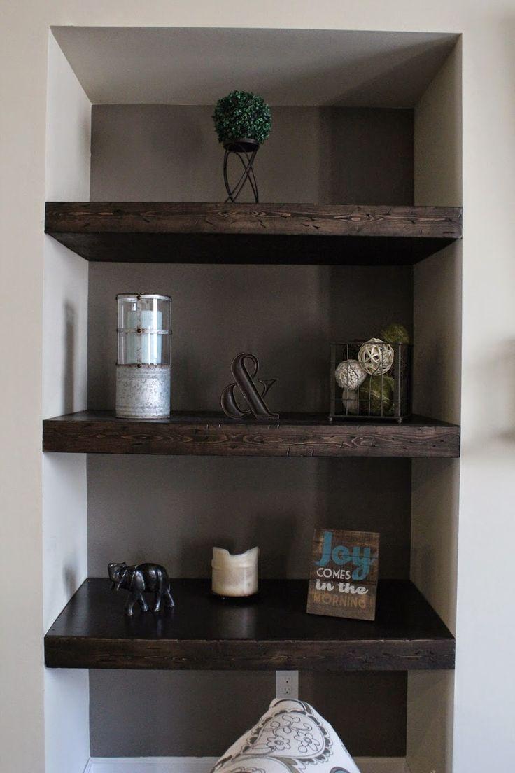 DIY Built in floating shelves   – Wall Ideas – #Built #Diy #Floating #Ideas #She…   – shelves