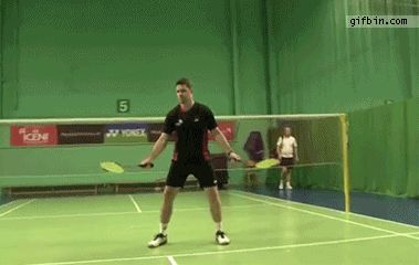 Badmington juggling - 10 shuttlecocks | Best Funny Gifs and Animated Gifs Updated Daily - Gif Bin