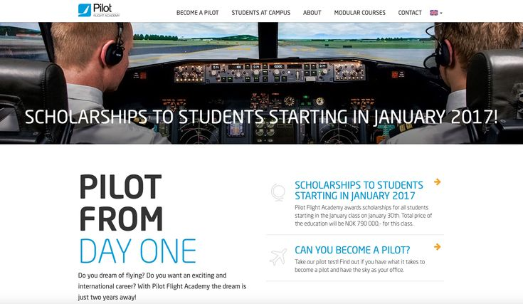 Pilot Flight Academy is Europes most modern flight school. We educate our students in top modern facilities, aircraft and simulators. With more than 2500 square meters to our disposal and 120 students in-house we educate tomorrows pilots at Oslo Sandefjord Airport. The entire program is conducted in English at our modern school at Torp Airport Sandefjord during all kinds of weather, with flight training both in Norway and abroad. After graduation, you will be qualified for a job as a pilot…