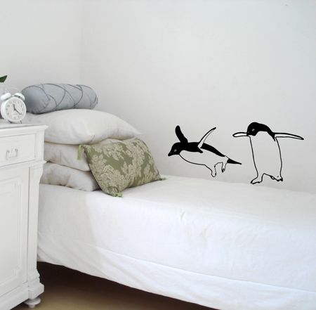 Two Funny Penguins Wall Decal - hardtofind. 37