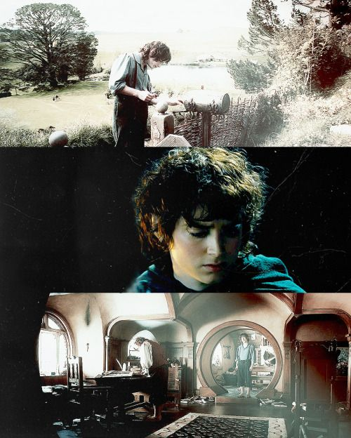 Frodo meme: (1/8) quotesBut now his thoughts had been carried away from the dark Mines, to Rivendell, to Bilbo, and to Bag End in the days while Bilbo was still there. He wished with all his heart that he was back there, and in those days, mowing the lawn, or pottering among the flowers, and that he had never heard of Moria, or mithril – or the Ring.
