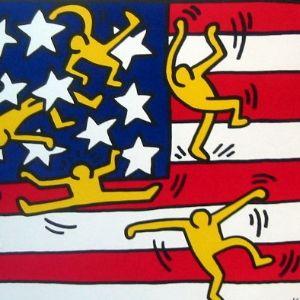 Keith HARING - Affiche drapeau américain