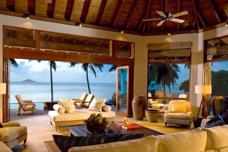 Everyday could be a vacation with a living room that has a view like this!  | Location: Virgin Gorda, British Virgin Islands | Listing: https://www.properbuz.com/view-details?property-id=a-unique-ownership-opportunity-on-virgin-gorda~48531 #DreamHome #BeachHouse #VirginGorda #BritishVirginIslands #RealEstate #homeforsale #Properbuz #propertysearch #property