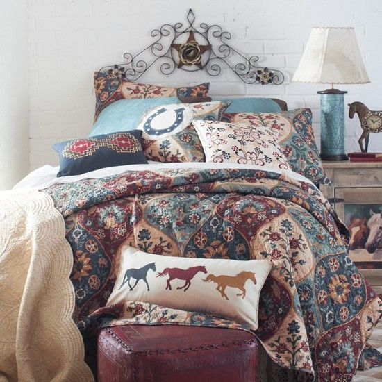 Western Tapestry Bedding Collection My girls love their horses!