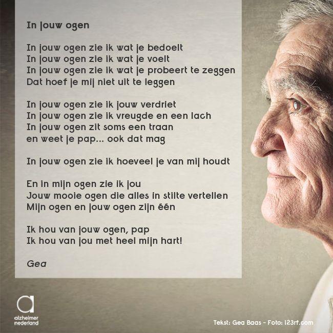 In jouw ogen #gedicht #dementie #alzheimer
