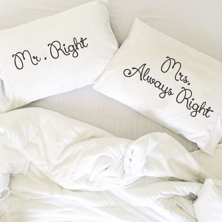 Mr Right Mrs Always Right PillowCases, Hand painted Couple pillowcase, his and hers pillows, Mr and Mrs, My side your side, Couple pillows by CreativePillowLV on Etsy https://www.etsy.com/listing/235129632/mr-right-mrs-always-right-pillowcases