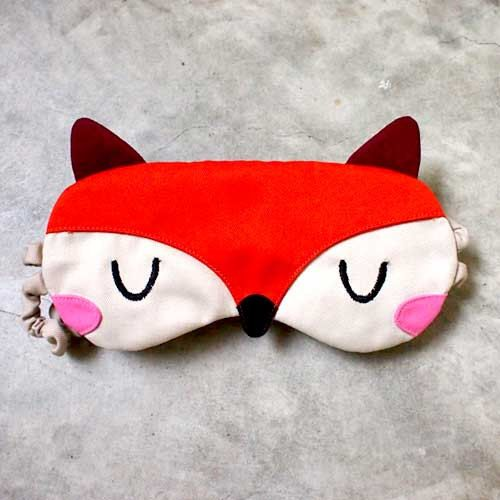 Sleep Eye Mask  The Fantastic Fox Orange por littleoddforest