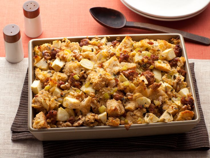 Sausage, Apple, and Walnut Stuffing from FoodNetwork.com......one of my personal favorites!!