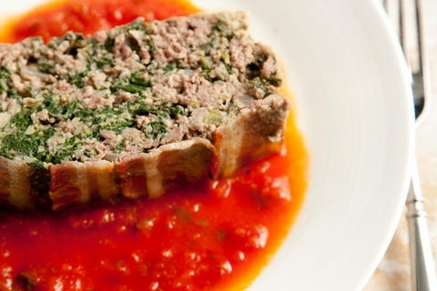 Ground Turkey & Spinach Meatloaf... without the sauce. Healthy