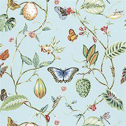 Thibaut Spring Lake - Lillian - Wallpaper - Blue