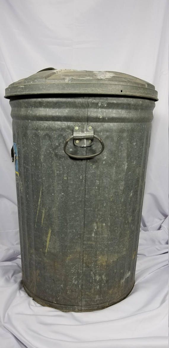 Vintage J L Ware Galvanized Metal Industrial Trash Can Galvanized Metal Trash Can Galvanized