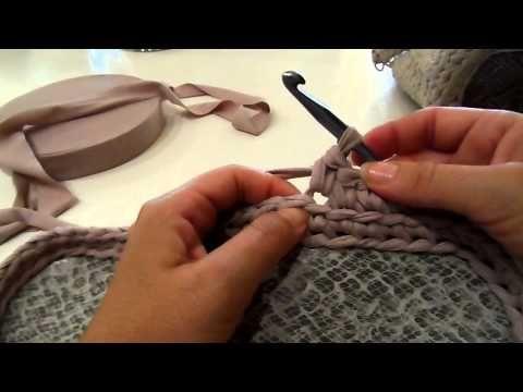 Come fare una borsa in fattuccia: gli aumenti Parte2 - YouTube