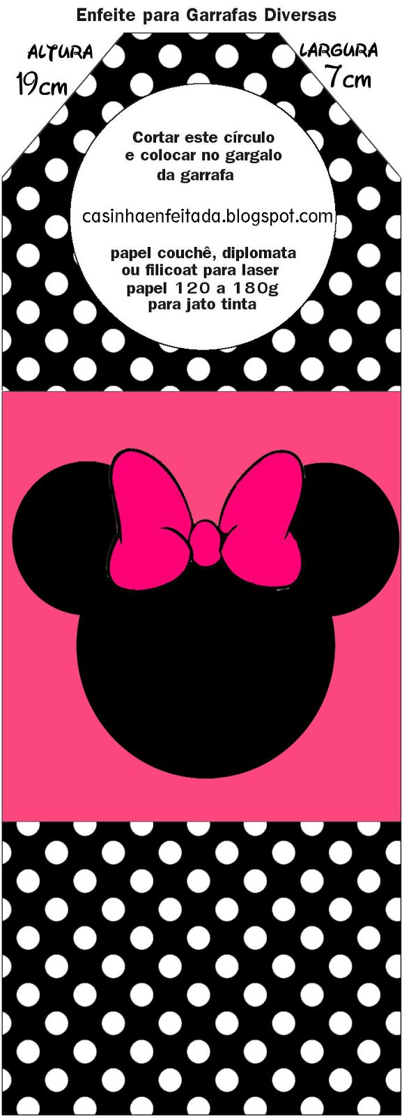 Kit Festa Minnie Rosa Preto e Pink