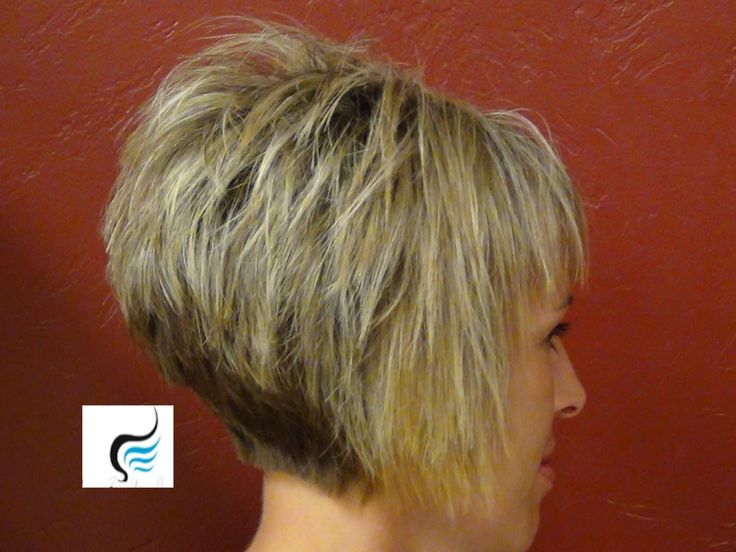 Short Stacked Haircut With Straight Bangs Wish I Had The Patience To Let My Spike