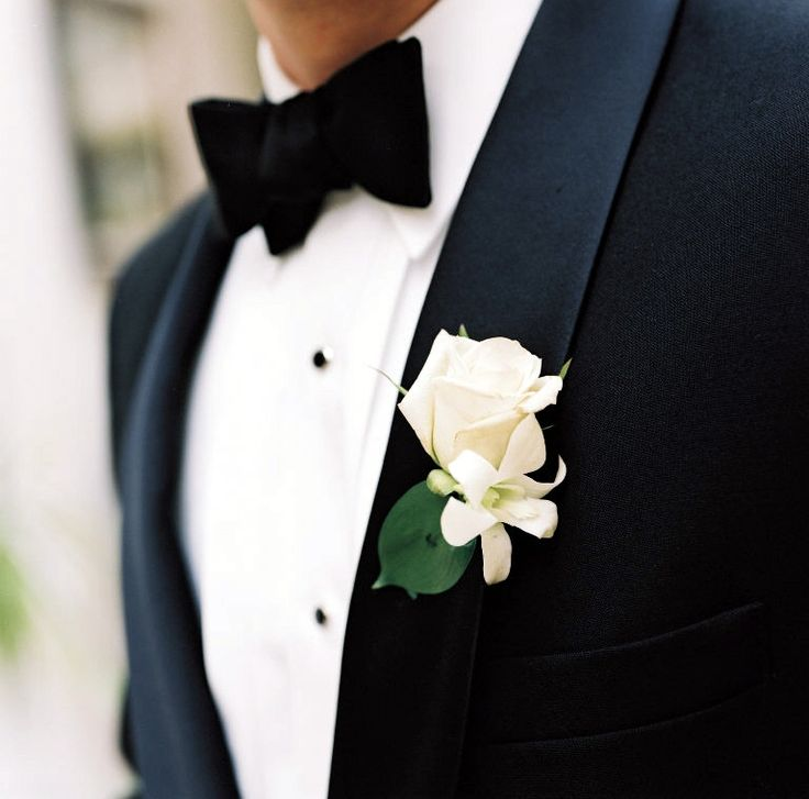 Best 25 white rose boutonniere ideas on pinterest white stephanotis boutonniere with white rose flowers classic white boutonnieres for todays weddings evantine junglespirit Images