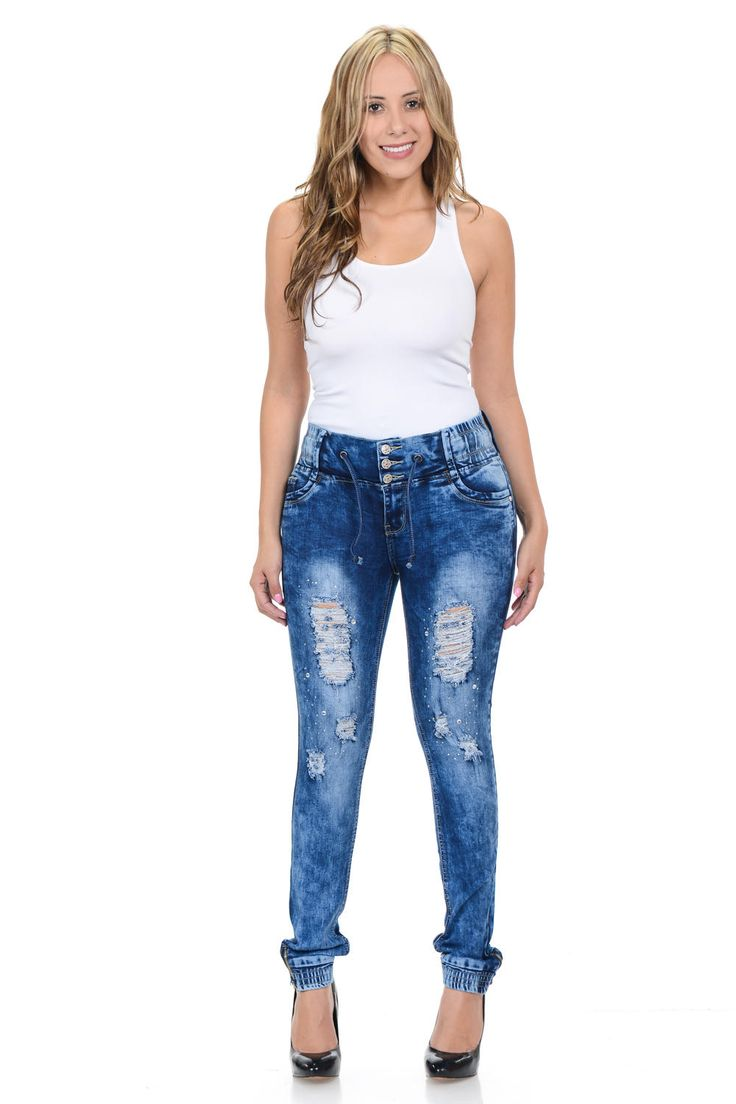 M.Michel Women's Jeans Colombian Design, Butt Lift, Levanta Cola, Push-Up, Skinny - Super Stretch - Style YC1660-R