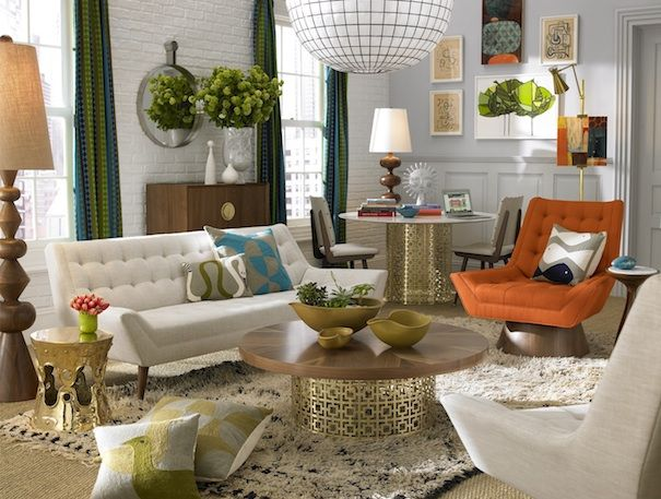 There are so many unique statement pieces in this space...different colours, shapes, finishes, and scale of pieces creates a quirky and fun interior...and very chic!