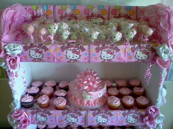 Hello Kitty Display Made Of Cardboard And Decorated With