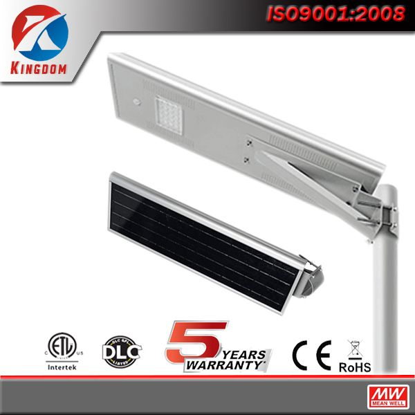 Manufacture IP65 outdoor lighting all in one 30w 60w solar LED street light with CE ROHS