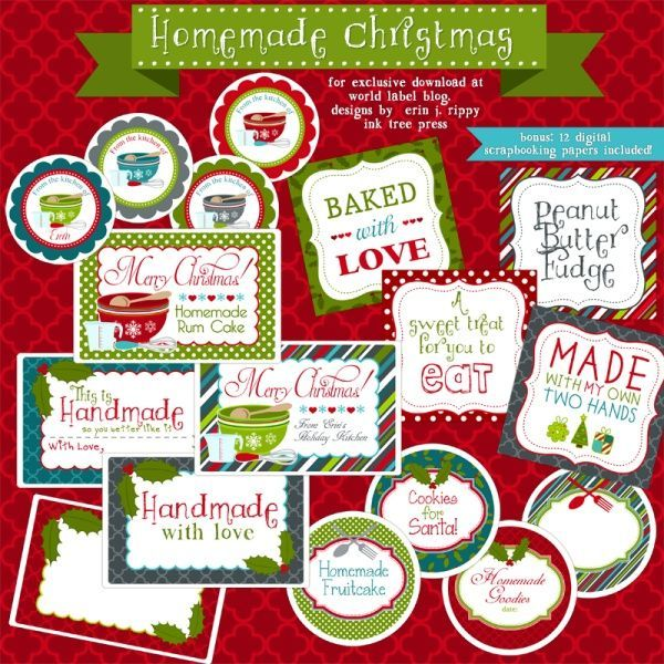 1000 images about labels on pinterest twelve days of for Homemade baked goods for christmas gifts
