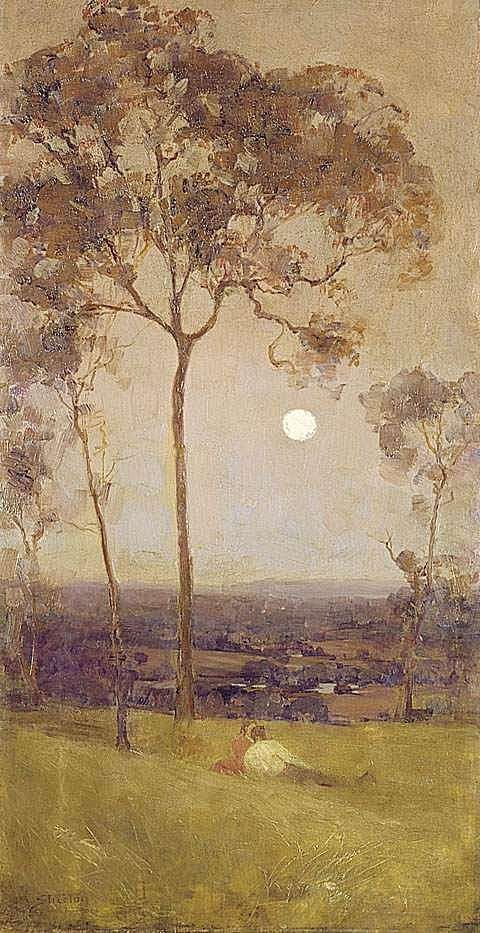 ARTHUR STREETON Australia 1867-1943  ABOVE US THE GREAT GRAVE SKY, 1890  oil on canvas 73.0 x 36.8 cm  Collection: National Gallery of Austr...