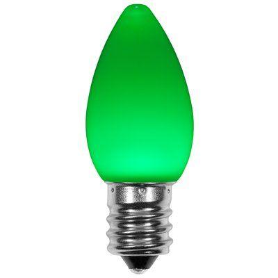 Wintergreen Lighting 120W Green E12/Candelabra LED Light Bulb