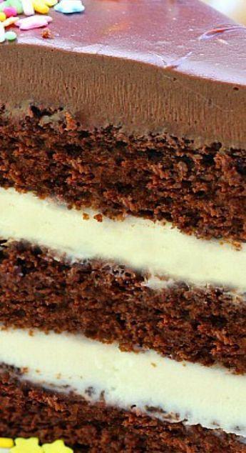 Chocolate Cake with Vanilla Cream Cheese Frosting