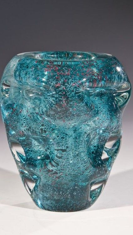 ANDRÉ THURET, internally decorated glass vase