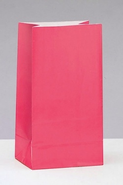 Pack of 12, fuschia pink paper party bags.  Great to match in with your colour scheme.  £2.99, order online at the Fuschia Boutique at www.fuschiadesigns.co.uk.