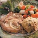 Herb Dumplings with Pork Chops