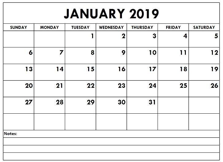 January 2019 Calendar Pdf Printable Calendar Calendar2019