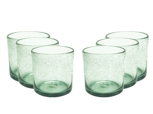 Recycled Glass Tumblers - 6 Pack from Zane Lamprey on OpenSky >> Love the color and size.