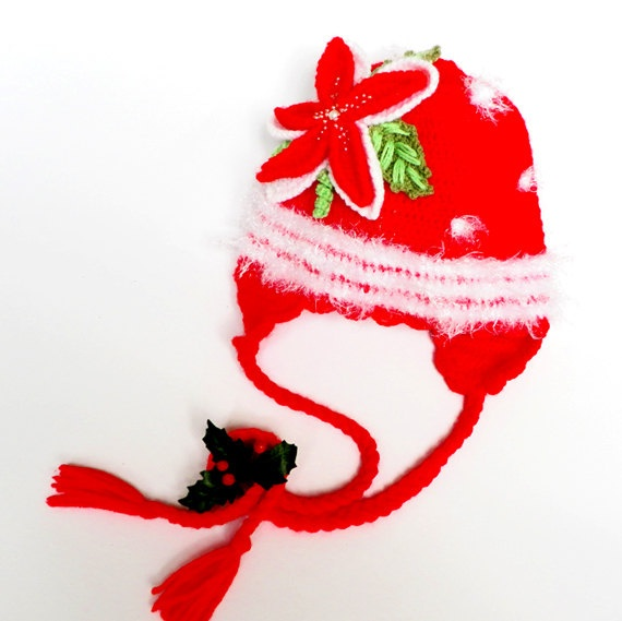 Christmas hat Crocheted baby hat in red by Svetlanababyknitting, $28.00