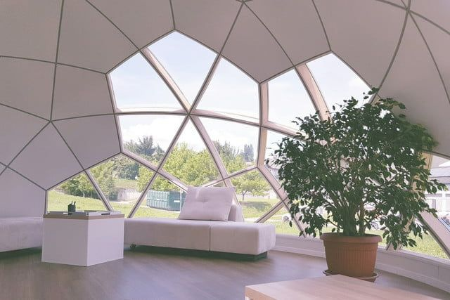 Smartdome Construction Makes Modular Moveable Dome Homes Digital Trends Geodesic Dome Homes Prefab Homes Dome Home