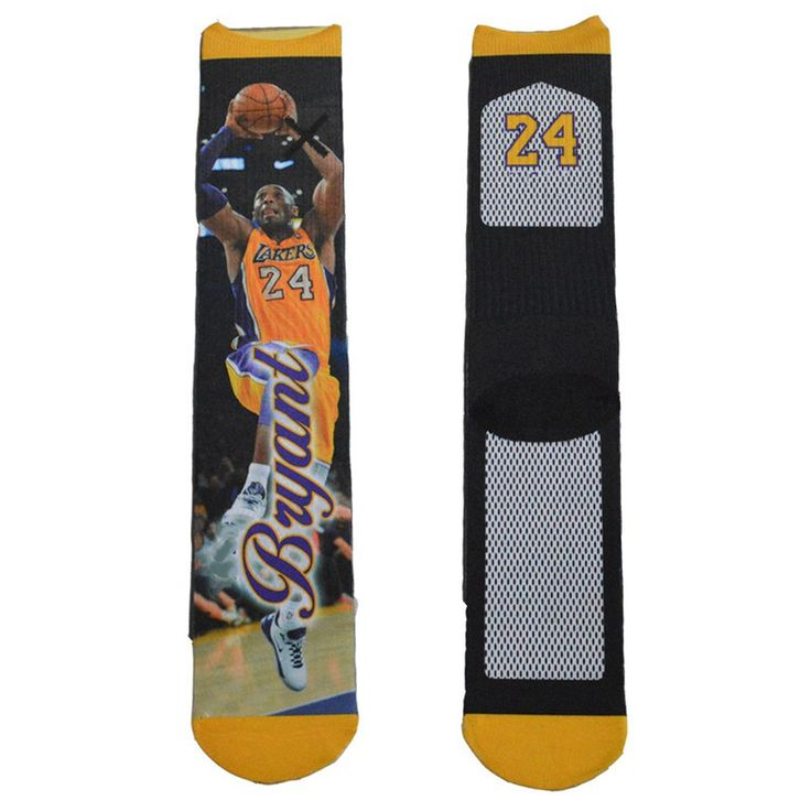 1 Pair 3D Printed Basketball Socks Fashion Elite Socks USA Brand Sport Socks Kevin Durant/Paul/Rose/LeBron James/Kobe Socks