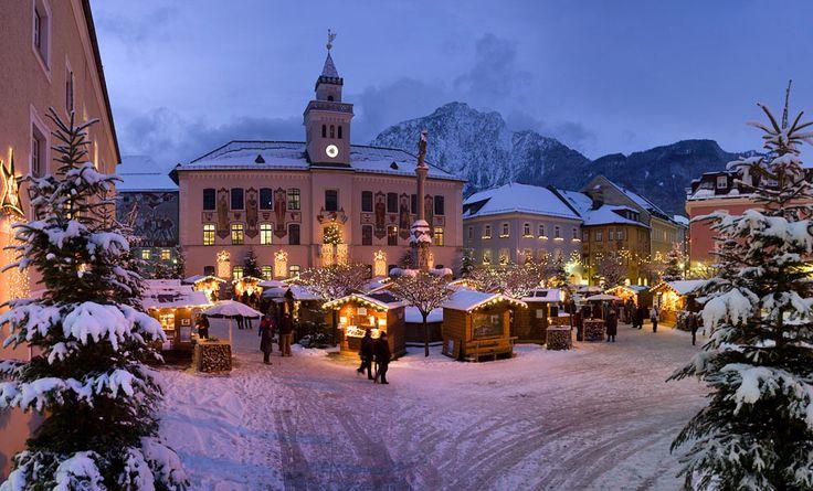 Romantic Christkindl market in Bad Reichenhall, Bavaria