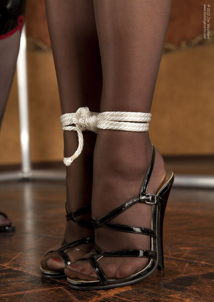 Pantyhose platform sandal bondage topic simply