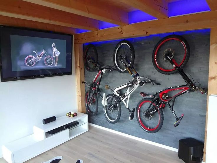 Bike rack wall  0 Fitness Running Triathlons   Bike room Diy bike rack Garage bike