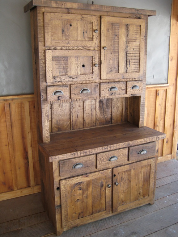 100 150 Year Old Reclaimed Wormy Chestnut Step Back Cupboard