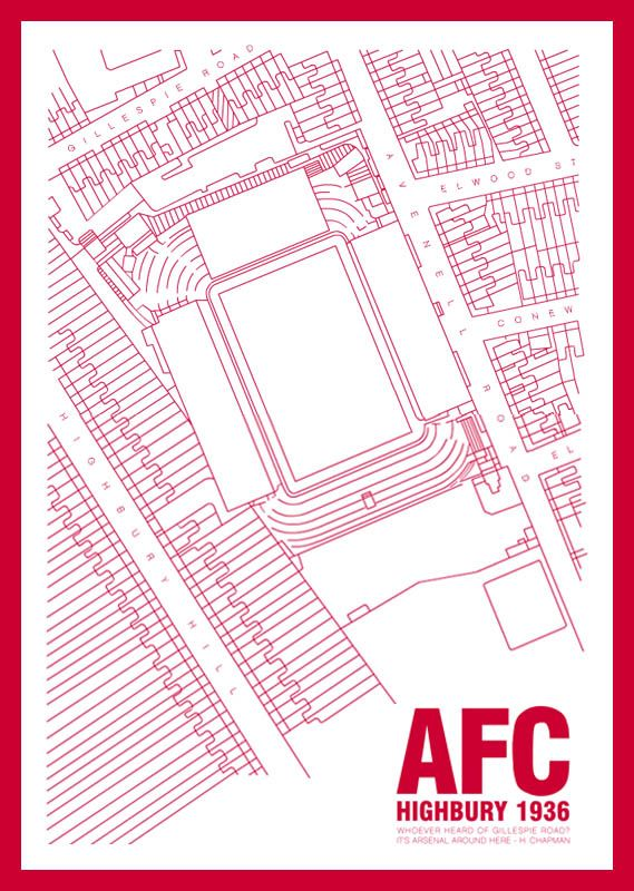 The Arsenal Collective - A Home for Memories of The Arsenal - Art - Highbury (1936) by SteveWelsh