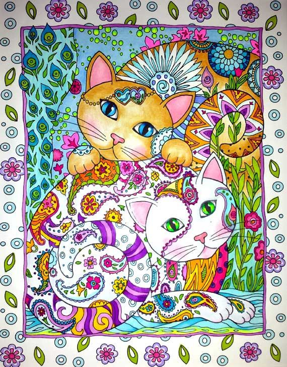Coloring Book Pages From Photos : 61 best creative cats coloring book completed pages inspiration