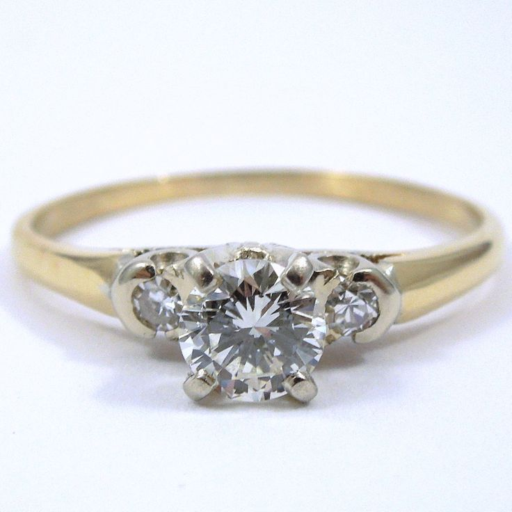 Beautiful  Carat Diamond with SI Clarity and H I Color set in a K Yellow Gold Engagement RingsBudget