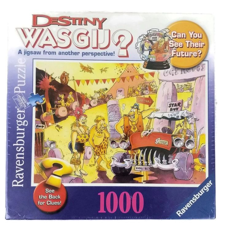 Ravensburger Puzzle Destiny Time Travel Wasgij Factory Sealed 1000 Pieces New #Wasgij