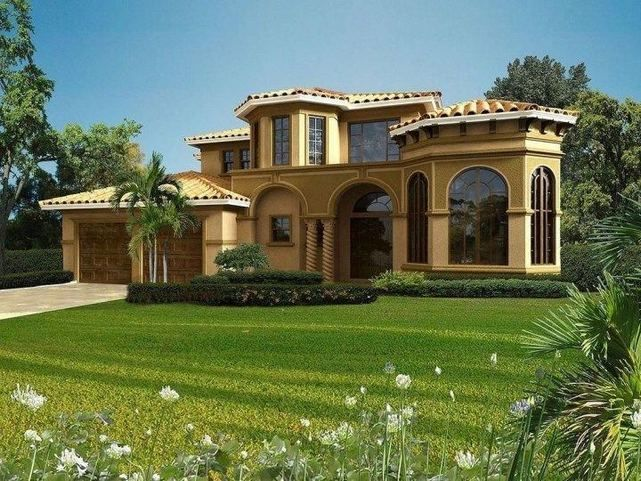 13 Wonderful Mediterranean Home Designs Youre Going To Fall In Love With Part 2 Mediterranean Homes Mediterranean Homes Exterior Luxury Mediterranean Homes